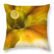 The Inner Circle Of A Primrose Throw Pillow