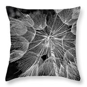 The Inner Weed Monochrome Throw Pillow