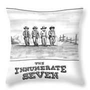 The Innumerate Seven Throw Pillow