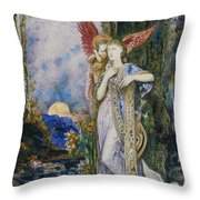 The Inspiration  Throw Pillow by Gustave Moreau