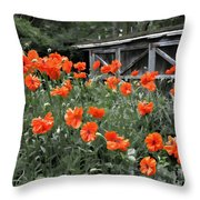 The Inspiration Of Orange Poppies Throw Pillow