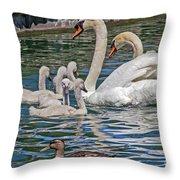 The Insular Family Throw Pillow