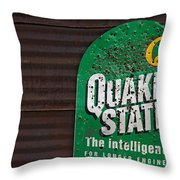The Intelligent Oil Throw Pillow by Murray Bloom