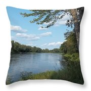 The Intervale On The Piscataquis Throw Pillow