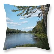 The Intervale On The Piscataquis River Throw Pillow