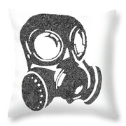 The Intricacies Of A Gas Mask Throw Pillow