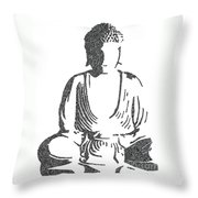 The Intricacies Of The Meditating Buddha Throw Pillow