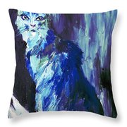 The Intuitive Silence Trembling With A Name Throw Pillow