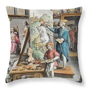 The Invention Of Oil Paint, Plate 15 Throw Pillow