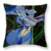 The Iris Throw Pillow