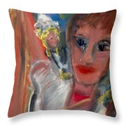 The Irish Milkmaid And The Lucky Cow Throw Pillow