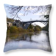 The Iron Bridge 2 Throw Pillow