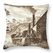The Iron Forge Between Dolgelli Throw Pillow