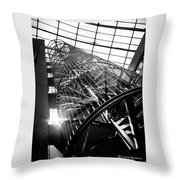 The Iron Hell Stairs Throw Pillow