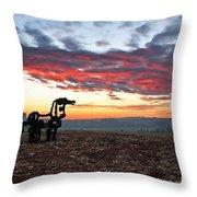 The Iron Horse Early Dawn The Iron Horse Collection Art Throw Pillow