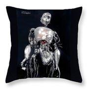 The Iron Robot Throw Pillow