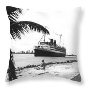 The Iroquois In Biscayne Bay Throw Pillow