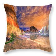 The Island Of Hope  Throw Pillow