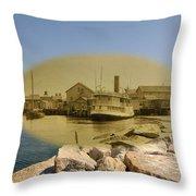 The Islander At Sakonnet Point In Little Compton Rhode Island Throw Pillow
