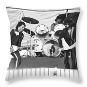 The J. Geils Band Rock Out In Oakland In 1976 Throw Pillow