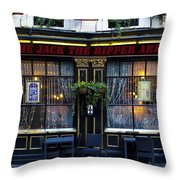 The Jack The Ripper Pub Throw Pillow