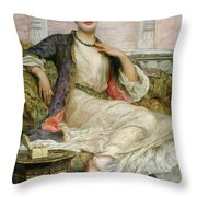 The Jade Necklace, 1908 Throw Pillow