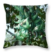 The Jade Vine Throw Pillow
