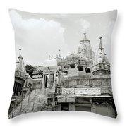 The Jagdish Temple Throw Pillow