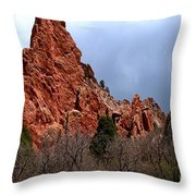 The Jagged Edges Throw Pillow