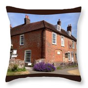 The Jane Austen Home Chawton England Throw Pillow