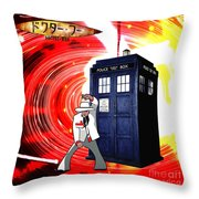 The Japanese Dr. Who Throw Pillow