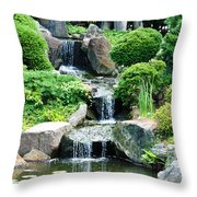 The Japanese Garden Throw Pillow by Bill Cannon