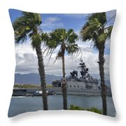 The Japanese Self Defense Force Ship Js Throw Pillow