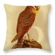 The Java Owl Cassell Throw Pillow
