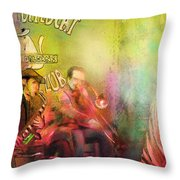 The Jazz Vipers In New Orleans 03 Throw Pillow