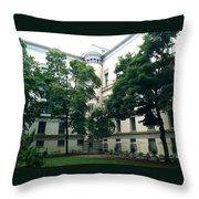 The Jefferson Building Courtyard Throw Pillow