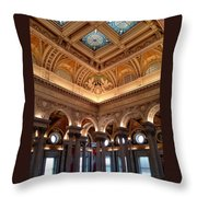 The Jefferson Building Library Of Congress Throw Pillow