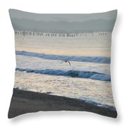 The Jersey Surf Throw Pillow