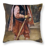 The Jester Named Don John Of Austria Throw Pillow