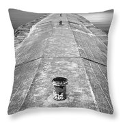 The Jetty Throw Pillow by Adam Romanowicz