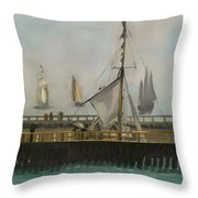 The Jetty Of Boulogne-ser-mer Throw Pillow