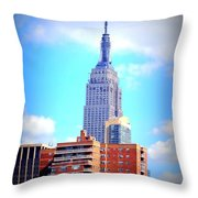 The Jewel Of New York Throw Pillow