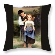 The Jewel Of The Fields Throw Pillow