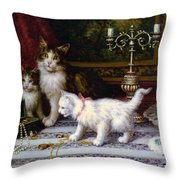 The Jewelry Box Throw Pillow