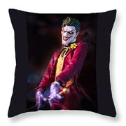 The Joker Dummy Throw Pillow