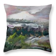The Journey Forward Throw Pillow