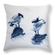 The Journey Throw Pillow by Jackie Mestrom