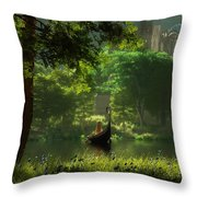 The Journey Throw Pillow by Melissa Krauss