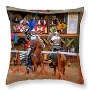 The Jousters 2 Throw Pillow