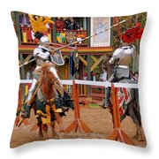 The Jousters 3 Throw Pillow